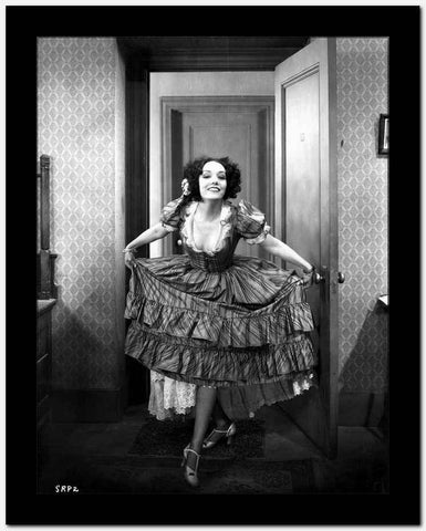 Lupe Velez Running in Elegant Dress with Heels High Quality Photo