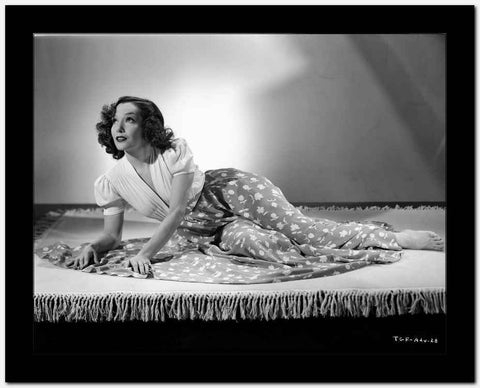 Lupe Velez Lying Pose in Elegant Dress High Quality Photo