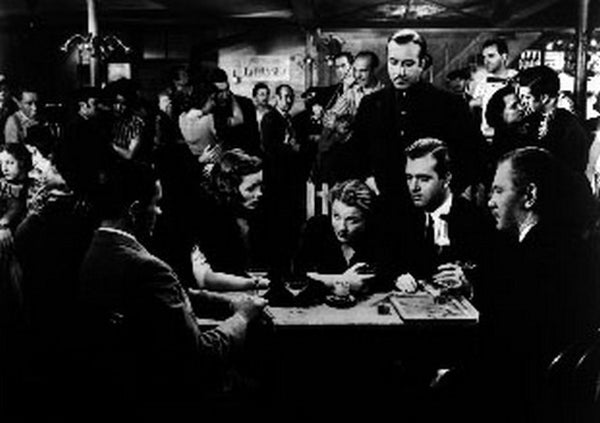 Razor's Edge People Gambling Scene Excerpt from Film in Black and White Premium Art Print