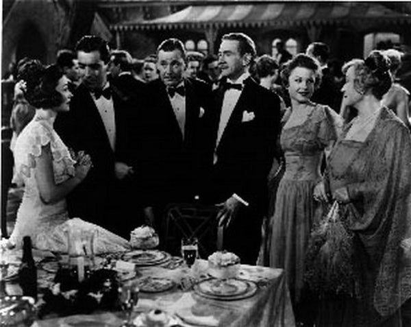 Razor's Edge People Gathered in a Party Scene Excerpt from Film in Black and White Premium Art Print