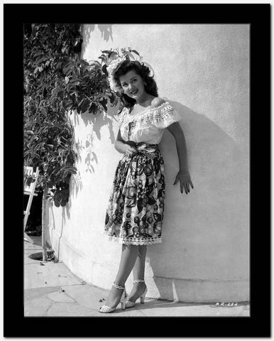 Ann Rutherford Leaning on a Curved Wall High Quality Photo