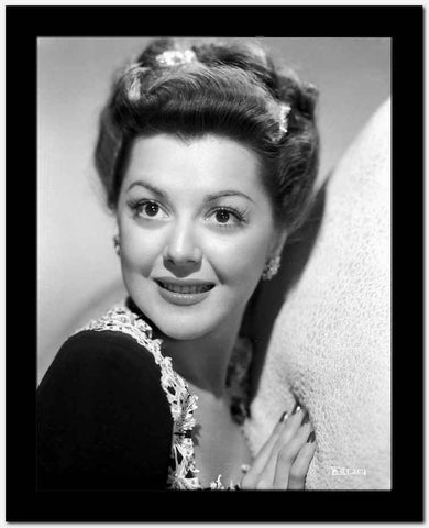Ann Rutherford Leaning on a Soft Surface High Quality Photo