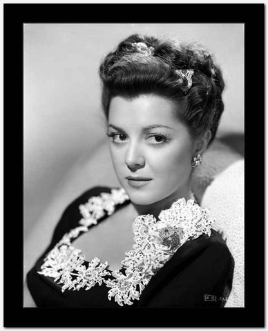 Ann Rutherford Facing at the Camera, wearing a Black Blouse High Quality Photo