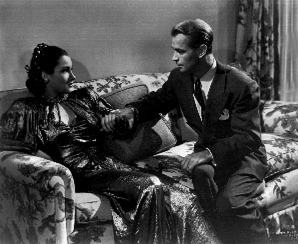 Blue Dahlia Couple Talking on Couch Scene Excerpt from Film Premium Art Print