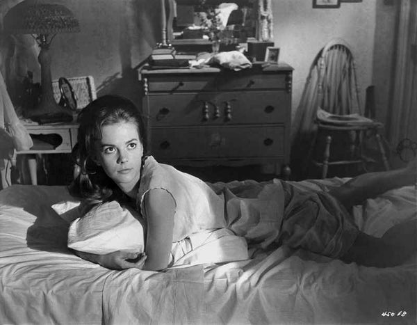 Natalie Wood Lying in Classic Premium Art Print