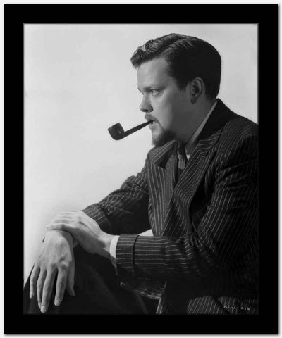 Orson Welles Pipe on Mouth in Classic High Quality Photo