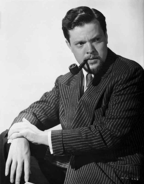 Orson Welles Puffing Pipe in Tuxedo Premium Art Print