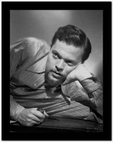 Orson Welles Leaning Head on Hand in Classic High Quality Photo