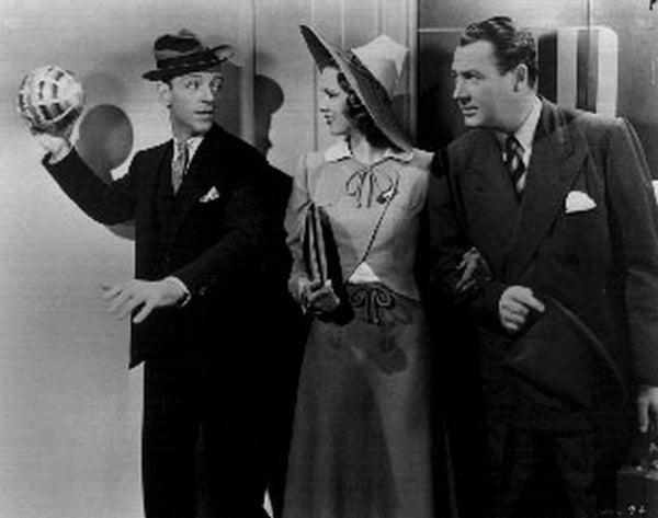Broadway Melody Men wearing Suit and Tie and Lady in Hat Premium Art Print