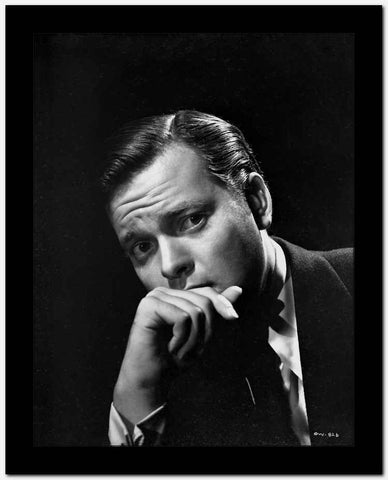 Orson Welles Portrait in Black and White High Quality Photo