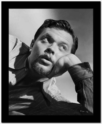 Orson Welles Lying in Black and White High Quality Photo