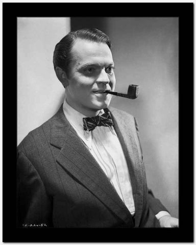 Orson Welles Portrait in Bowtie and Coat High Quality Photo