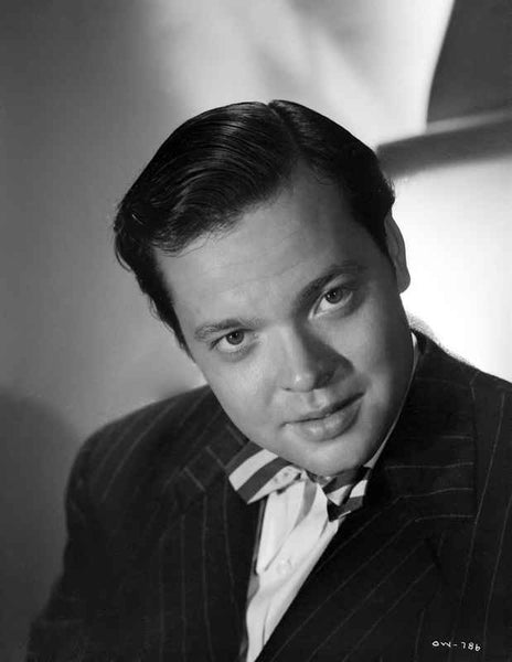 Orson Welles Posed in Black and White Premium Art Print