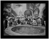 Johnny Weissmuller Picking a Fight Near the Well in a Movie Scene High Quality Photo