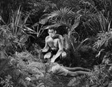 Johnny Weissmuller Killed a Man in a Classic Movie Scene Premium Art Print