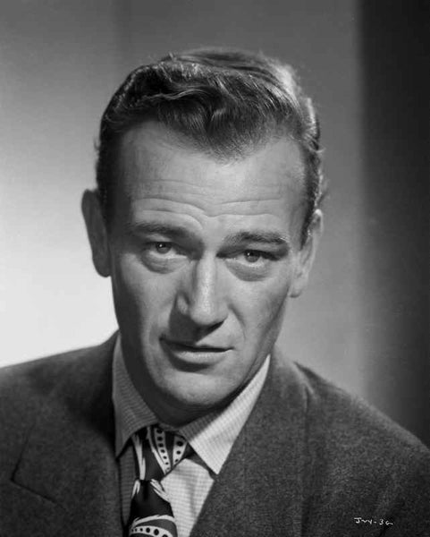 John Wayne in a suit and tie Premium Art Print