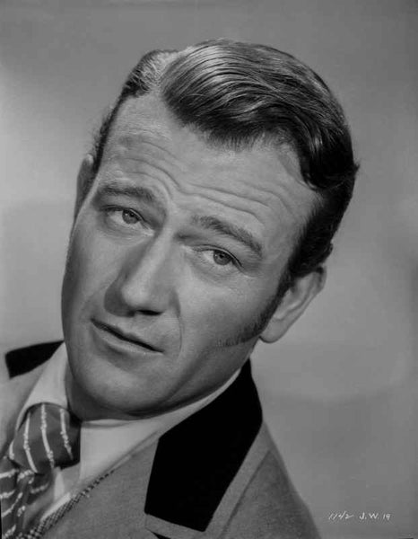 John Wayne portrait tie and suit Premium Art Print