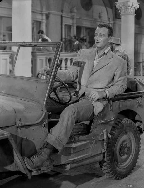 John Wayne in automobile Premium Art Print