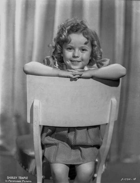 Shirley Temple Posed on the Chair Classic Portrait Premium Art Print