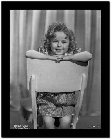 Shirley Temple Posed on the Chair Classic Portrait High Quality Photo