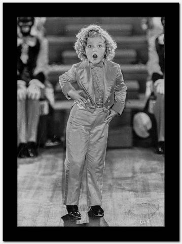 Shirley Temple Posed in Cute Outfit High Quality Photo