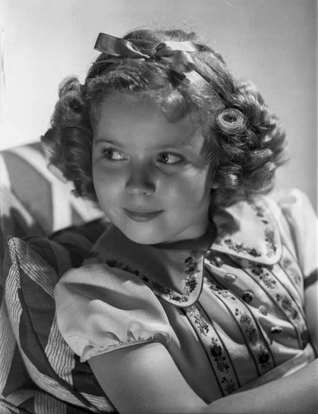 Shirley Temple wearing a Dress with Matching Hair Band Premium Art Print