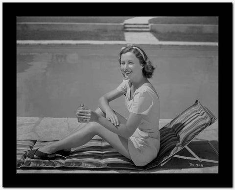 Barbara Stanwyck Applying Sun Screen Lotion Classic Portrait High Quality Photo