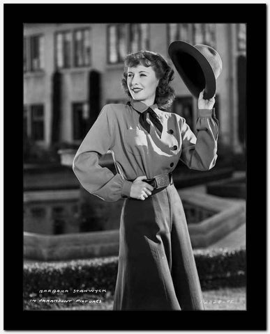 Barbara Stanwyck Holding Hat Classic Portrait High Quality Photo