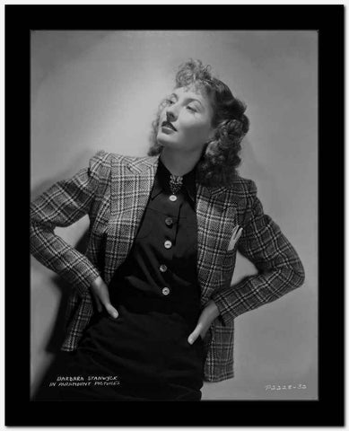 Barbara Stanwyck Hands in the Waist Classic Portrait High Quality Photo
