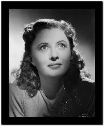 Barbara Stanwyck Classic Close-up Portrait High Quality Photo