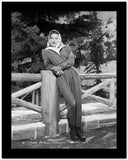 Barbara Stanwyck Leaning in Fence Classic Portrait Looking Sideways High Quality Photo