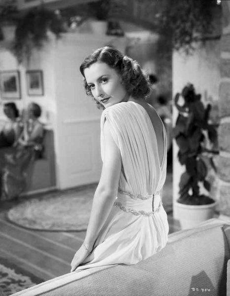 Barbara Stanwyck Showing Back Pose Classic Portrait Premium Art Print