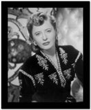Barbara Stanwyck Close-up in Floral Dress Classic Portrait High Quality Photo