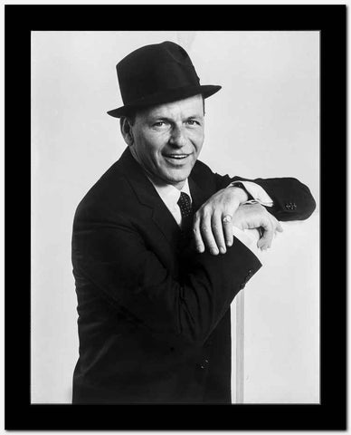 Frank Sinatra smiling in Suit and Hat High Quality Photo
