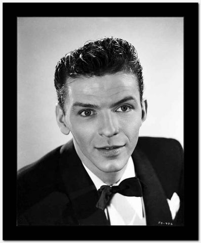 Frank Sinatra Slightly smiling in Black Tuxedo High Quality Photo