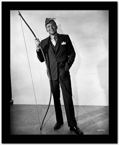 Frank Sinatra Holding a Long Bow High Quality Photo