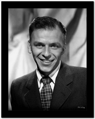 Frank Sinatra Posed in a Suit with a Happy Face High Quality Photo