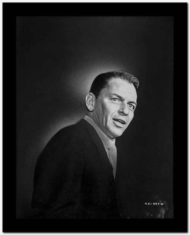 Frank Sinatra Posed in Suit with Mouth Slightly Open High Quality Photo