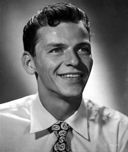 Frank Sinatra smiling in White Shirt Premium Art Print