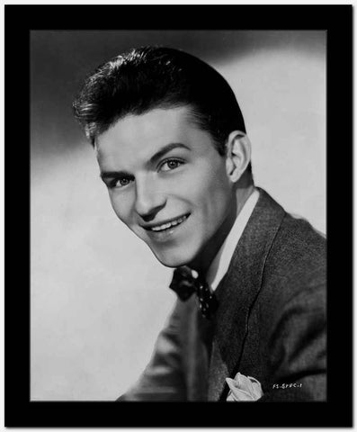 Frank Sinatra smiling in Suit with White Background High Quality Photo