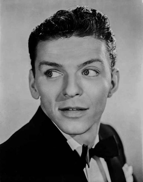 Frank Sinatra smiling in Black Tuxedo Premium Art Print