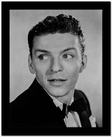 Frank Sinatra smiling in Black Tuxedo High Quality Photo