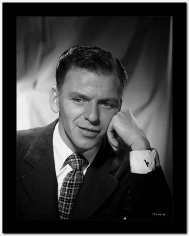 Frank Sinatra Leaning on Hand in Suit High Quality Photo