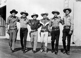 Roy Rogers posed with Men in Black and White Premium Art Print