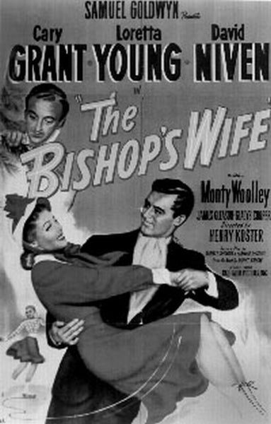 Bishops Wife Movie Poster in Gray scale Premium Art Print