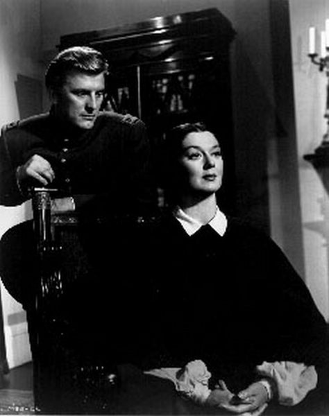 Mourning Becomes Electra Movie Scene with Couple in Black and White Premium Art Print