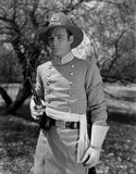 Roy Rogers posed with Gun in Black and White Premium Art Print