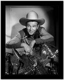 Roy Rogers smiling in Cowboy Outfit High Quality Photo