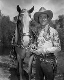 Roy Rogers Posed in Cowboy Outfit Premium Art Print