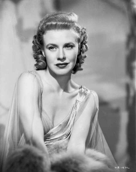 Ginger Rogers Portrait Red lipstick Curly Hair Premium Art Print